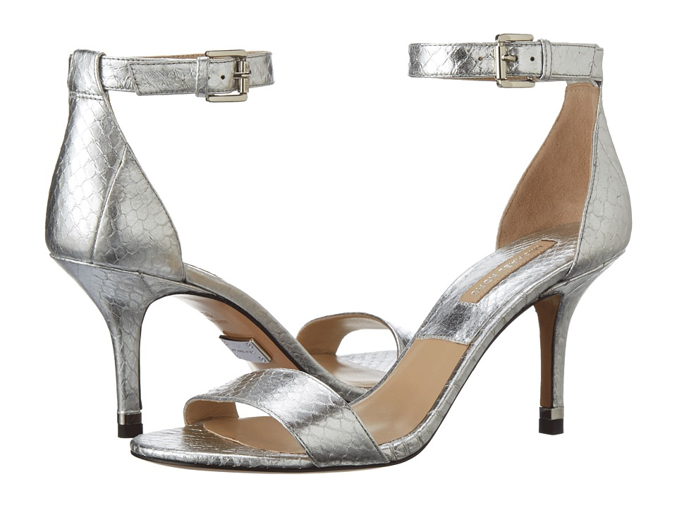 Michael Kors - Suri (Silver Palladium Metallic Genuine Snake) High Heels