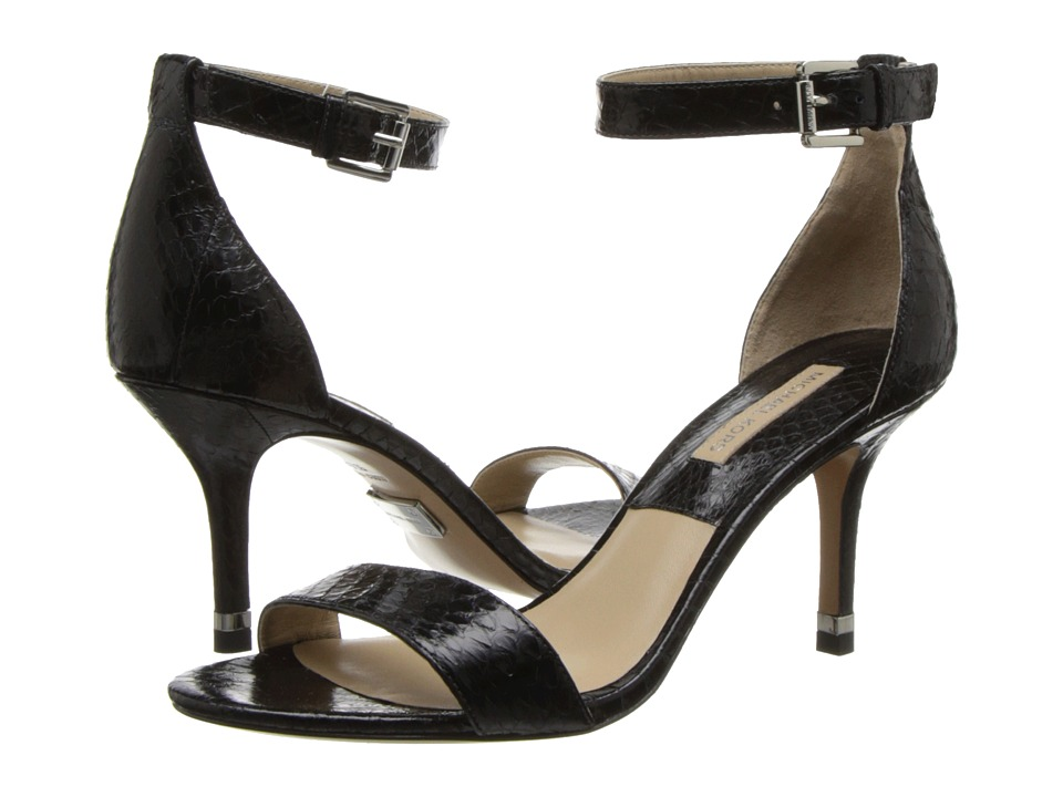 Michael Kors - Suri (Black Palladium Genuine Snake Solid) High Heels