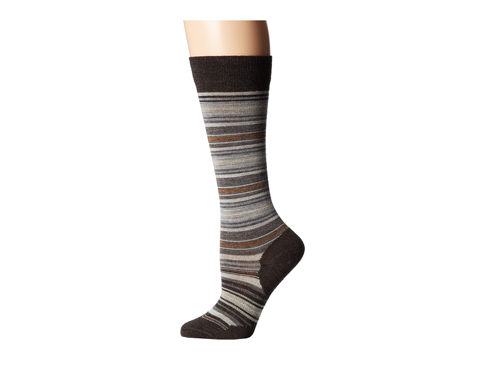 Smartwool - Arabica II (Chestnut Heather/Carmet Heather) Women's Knee High Socks Shoes