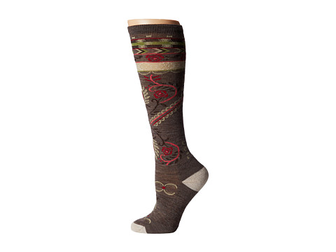 Smartwool - Arrow Top (Taupe Heather) Women's Crew Cut Socks Shoes