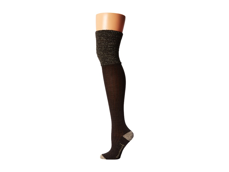 Smartwool - Basic Thigh High (Chestnut Heather/Oatmeal Heather) Women's Thigh High Socks Shoes