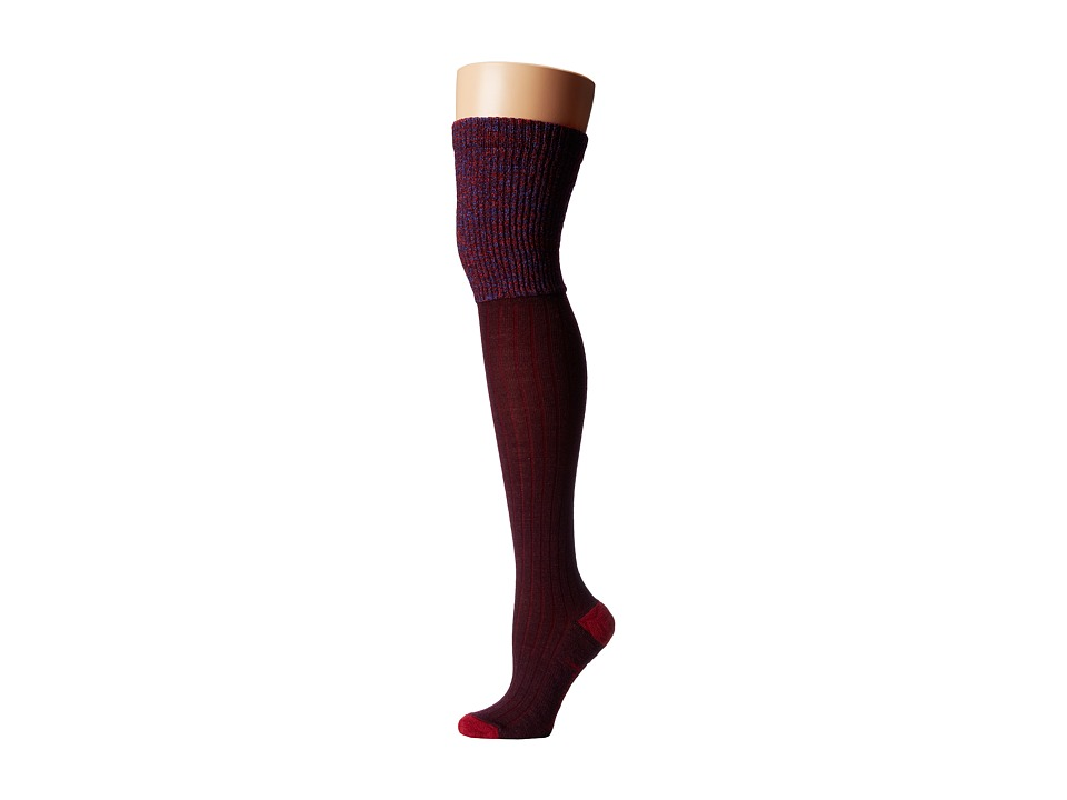 Smartwool - Basic Thigh High (Aubergine Heather) Women's Thigh High Socks Shoes