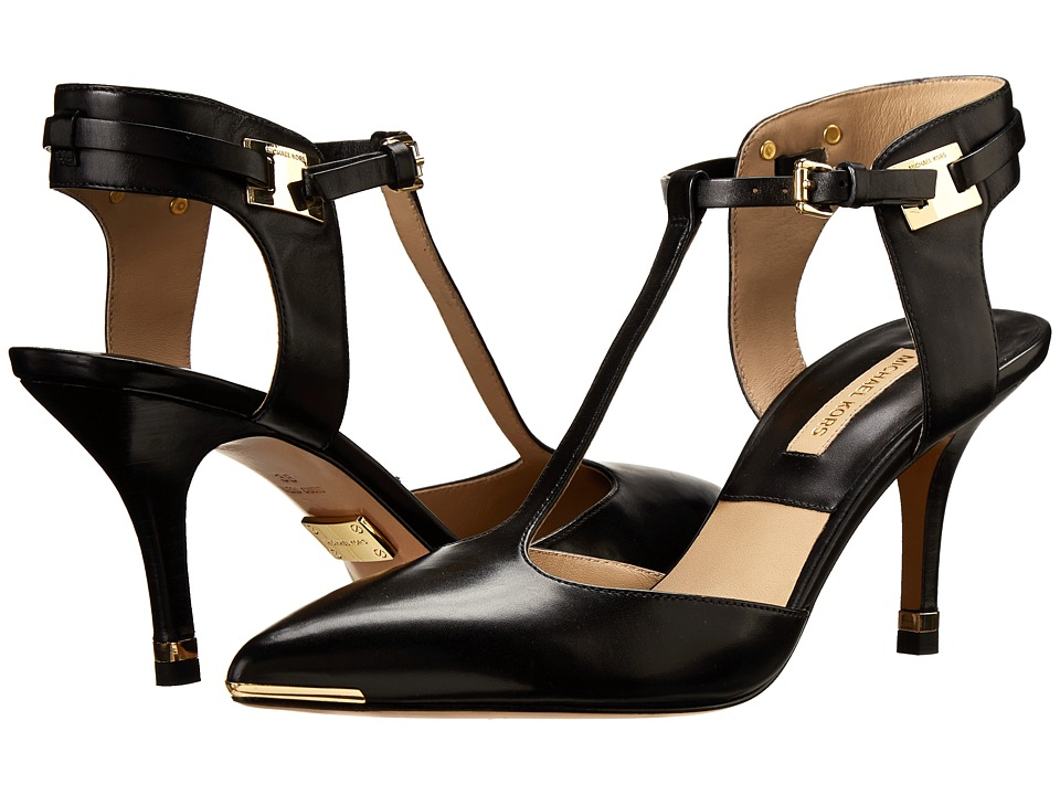 Michael Kors Silvia (Black 18K Smooth Calf) High Heels