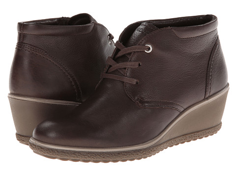 ECCO - Camilla Wedge Ankle Boot (Coffee) Women's Wedge Shoes