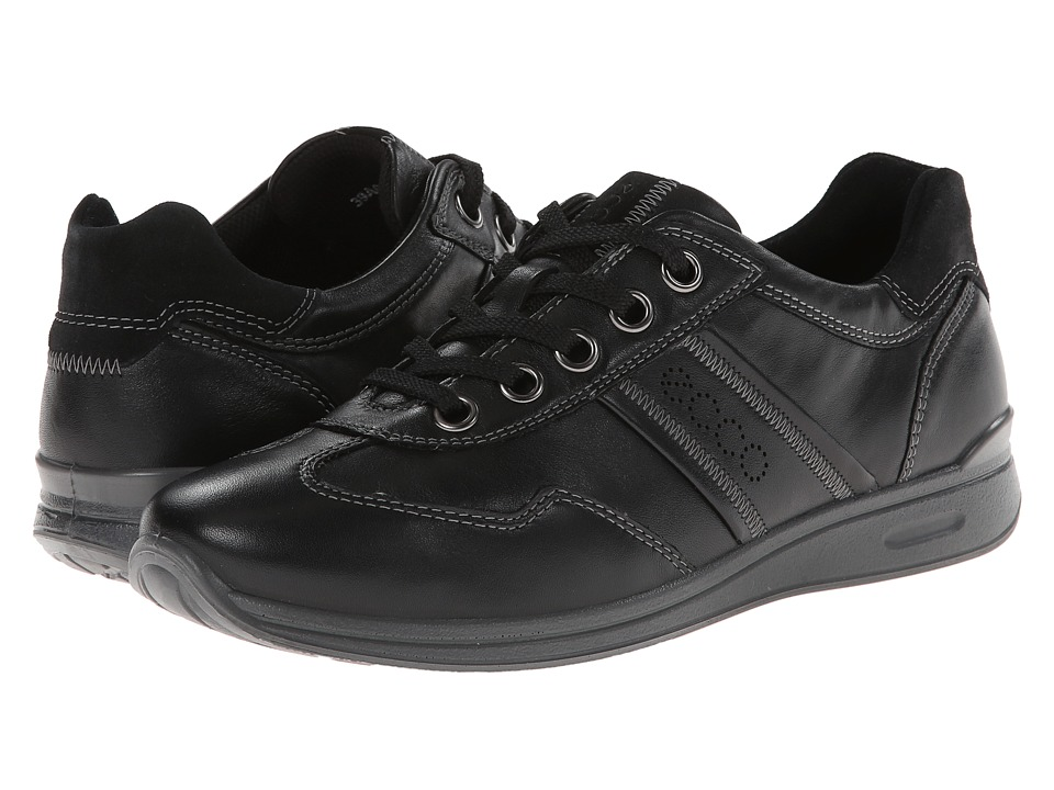 ECCO - Mobile II (Black/Black/Feather) Women's Lace up casual Shoes