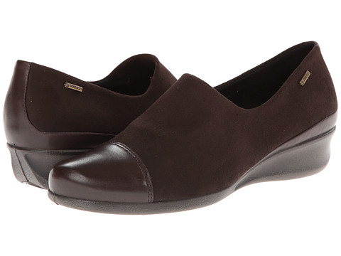 ECCO - Abelone GTX Slip On (Coffee/Coffee) Women's Shoes