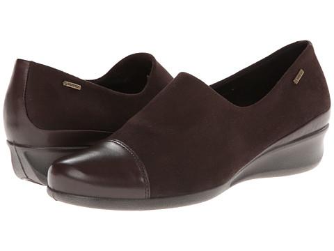 ECCO - Abelone GTX Slip On (Coffee/Coffee) Women's Shoes