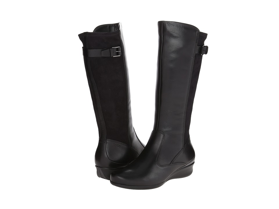 ECCO - Abelone Tall Boot (Black/Black) Women