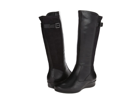 ECCO - Abelone Tall Boot (Black/Black) Women's Boots
