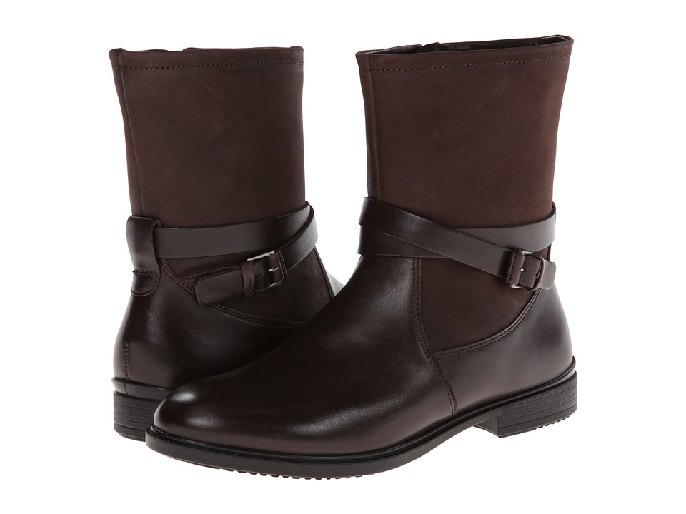 ECCO Touch 15 Buckle Boot (Coffee/Mocha) Women