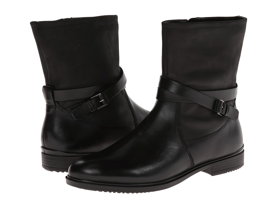 ECCO - Touch 15 Buckle Boot (Black/Black) Women's Boots