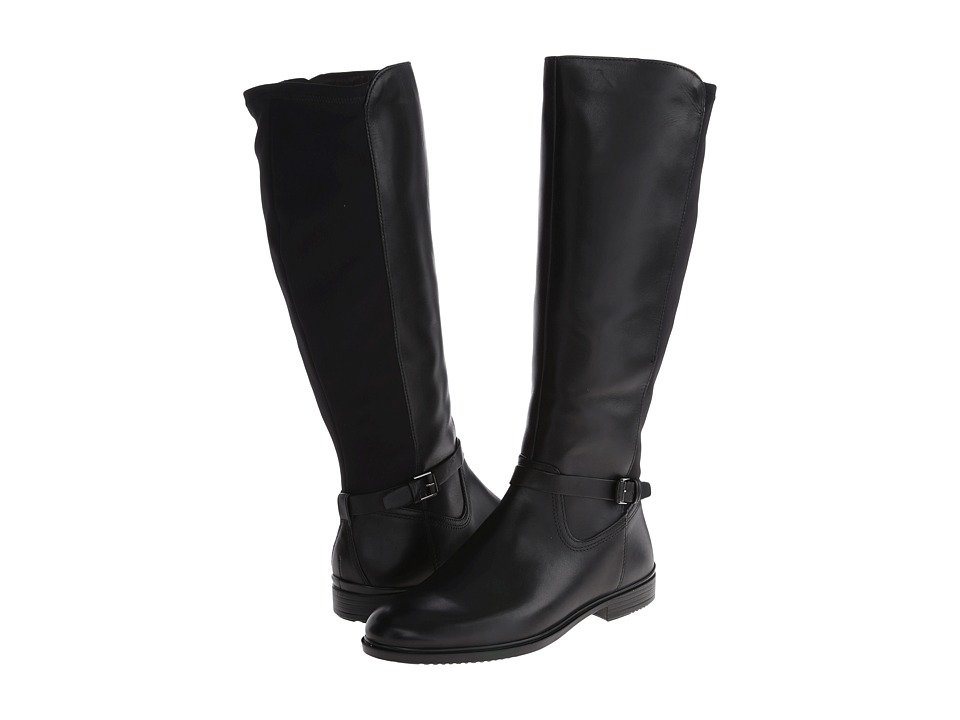 ECCO - Touch 15 Strap Boot (Black/Black) Women's Boots
