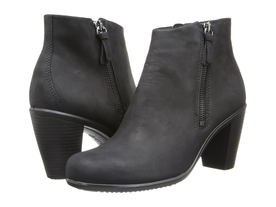ECCO - Touch 75 Ankle Bootie (Black) Women's Shoes