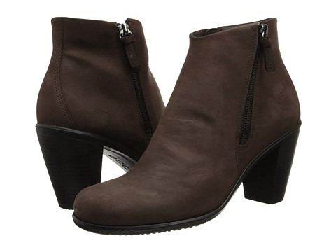 ECCO - Touch 75 Ankle Bootie (Mocha) Women's Shoes
