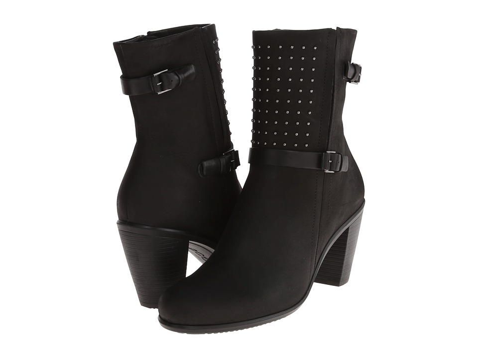 ECCO Touch 75 Mid Cut Bootie (Black/Black) Women