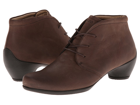 ECCO - Sculptured Bootie (Coffee) Women's Lace-up Boots