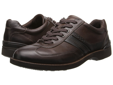 ECCO - Fenn Tie (Coffee/Black/Espresso) Men's Lace up casual Shoes