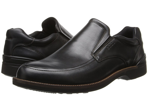 ECCO - Fenn Slip On (Black) Men's Slip on Shoes