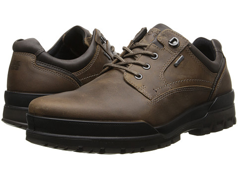 ECCO - Track 6 GTX Plain Toe Tie (Navajo Brown/Dark Clay) Men's Lace up casual Shoes