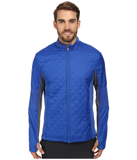 ASICS - Thermo Windblocker (New Blue/Heather Iron) Men's Fleece