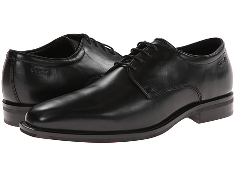 ECCO - Faro Tie (Black) Men's Plain Toe Shoes