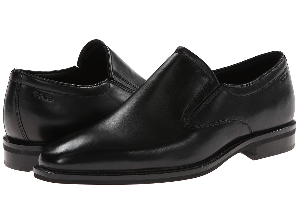 ECCO - Faro Slip On (Black) Men's Slip-on Dress Shoes