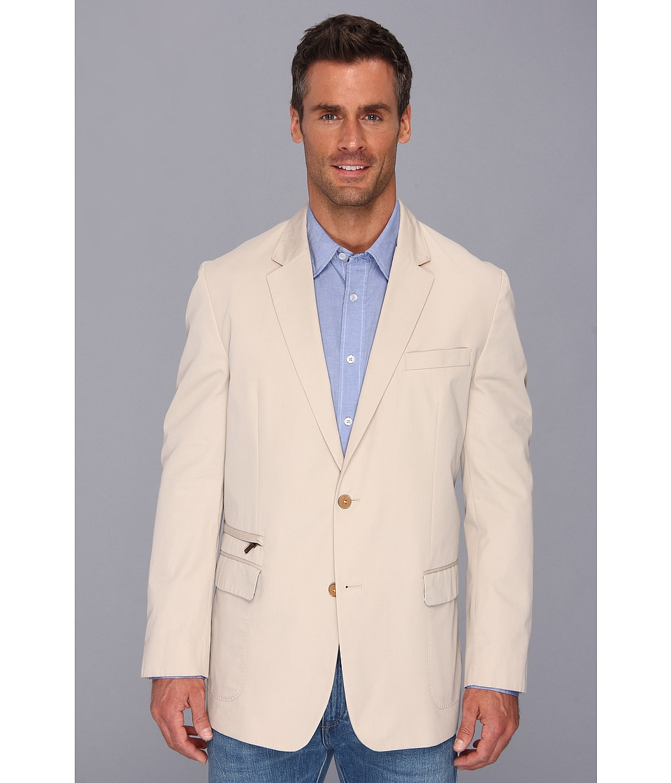 Robert Graham - Julian Basic Woven Sport Coat (Light Khaki) Men's Jacket