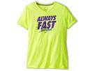 Nike Kids Legend Always Fast Tee (Little Kids/Big Kids) (Volt/Dark Grey Heather)