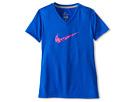 Nike Kids Legend V-Neck Swoosh Fill Tee (Little Kids/Big Kids) (Hyper Cobalt/Dark Grey Heather)