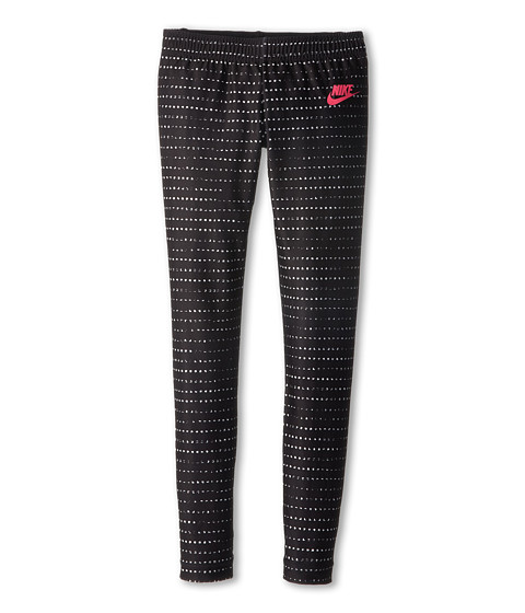 Nike Kids - AOP Tight (Little Kids/Big Kids) (Sail/Black/Hyper Pink) Girl's Workout