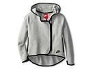 Nike Kids Tech Fleeze Full Zip Cape Hoodie (Little Kids/Big Kids) (Dark Grey Heather/Black)
