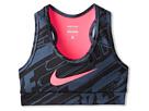 Nike Kids NP YA GFX Hypercool Bra (Little Kids/Big Kids) (Dark Magnet Grey/Black/Hyper Pink)
