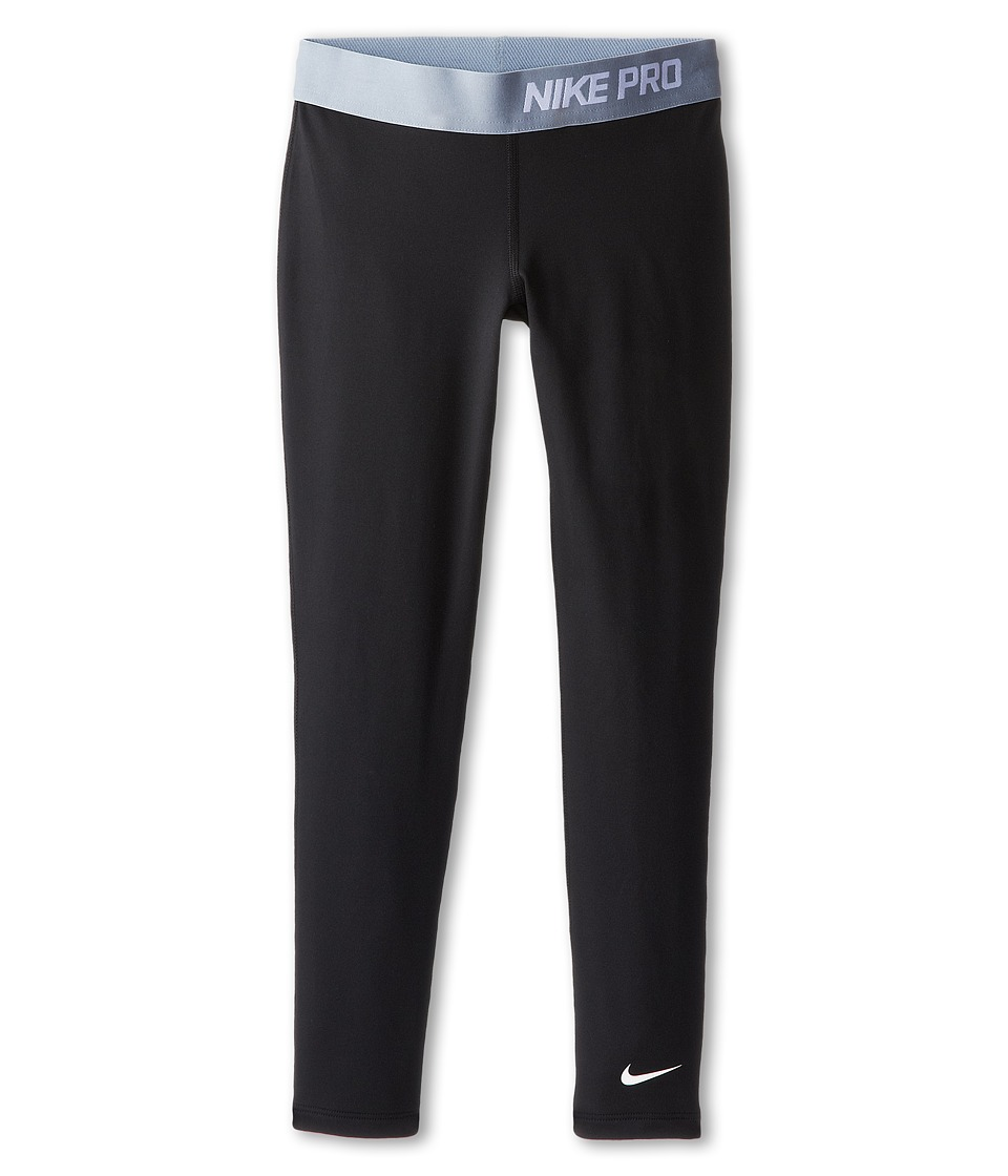 Nike Kids - Pro Hyperwarm 3.0 Tight (Little Kids/Big Kids) (Black/Magnet Grey/White) Girl's Workout
