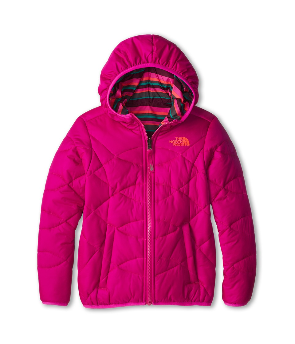 The North Face Kids - Reversible Perrito Jacket (Little Kids/Big Kids) (Azalea Pink) Girl