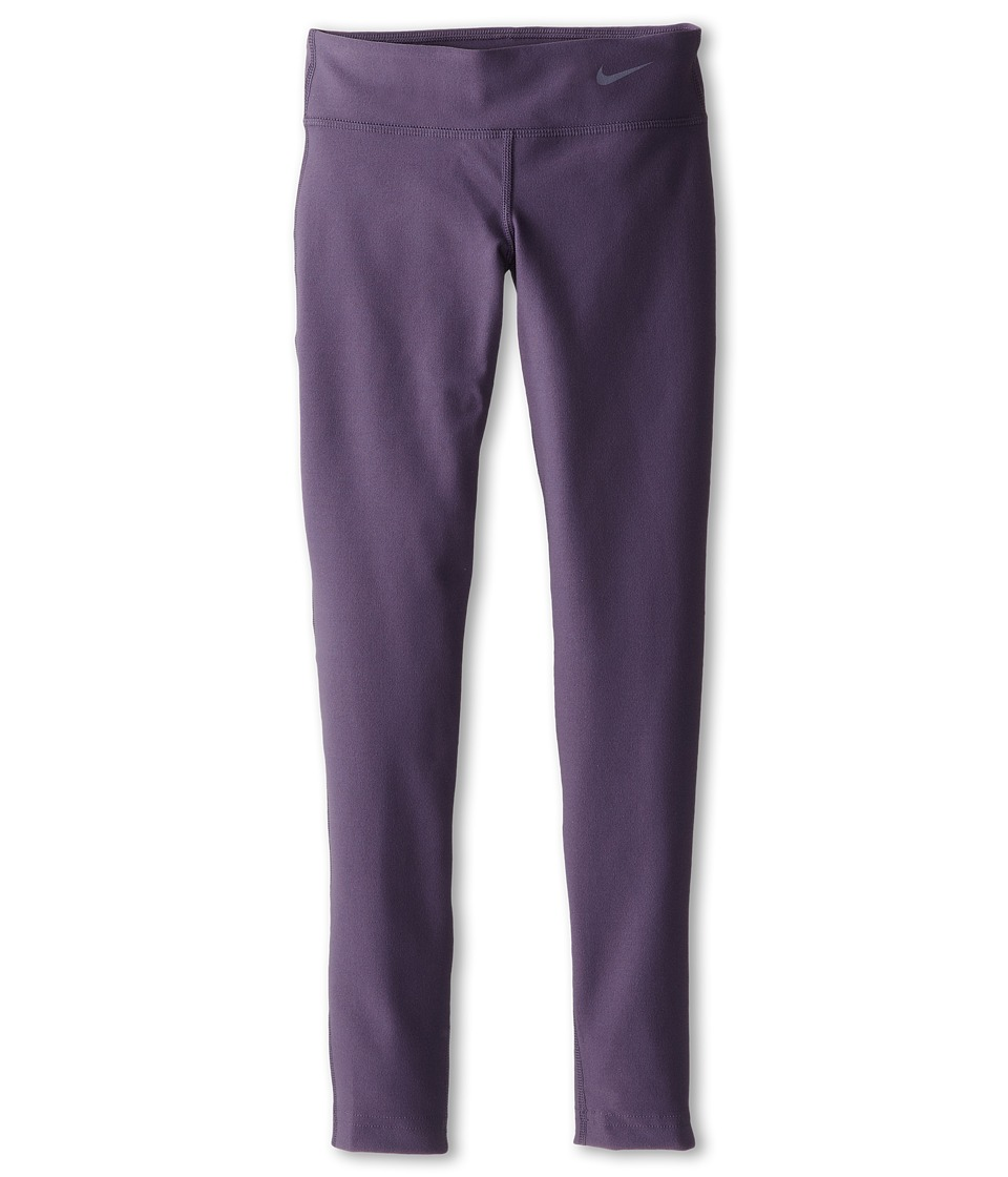 Nike Kids - Legend Tight Pant (Little Kids/Big Kids) (Dark Raisin/Dark Raisin/Cool Grey) Girl's Casual Pants