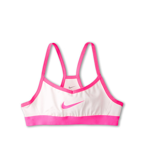 Nike Kids - Victory Swoosh Bra (Little Kids/Big Kids) (Sail/Hyper Pink/Hyper Pink) Girl's Bra