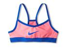 Nike Kids Victory Swoosh Bra (Little Kids/Big Kids) (Hyper Pink/Hyper Cobalt/Hyper Cobalt)