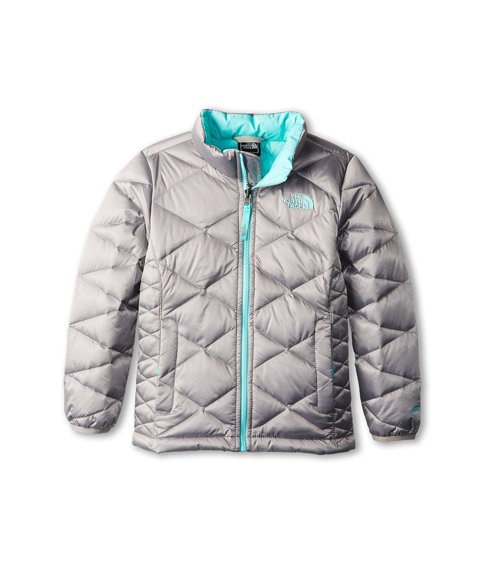 The North Face Kids - Aconcagua Jacket (Little Kids/Big Kids) (Metallic Silver/Mint Blue) Girl