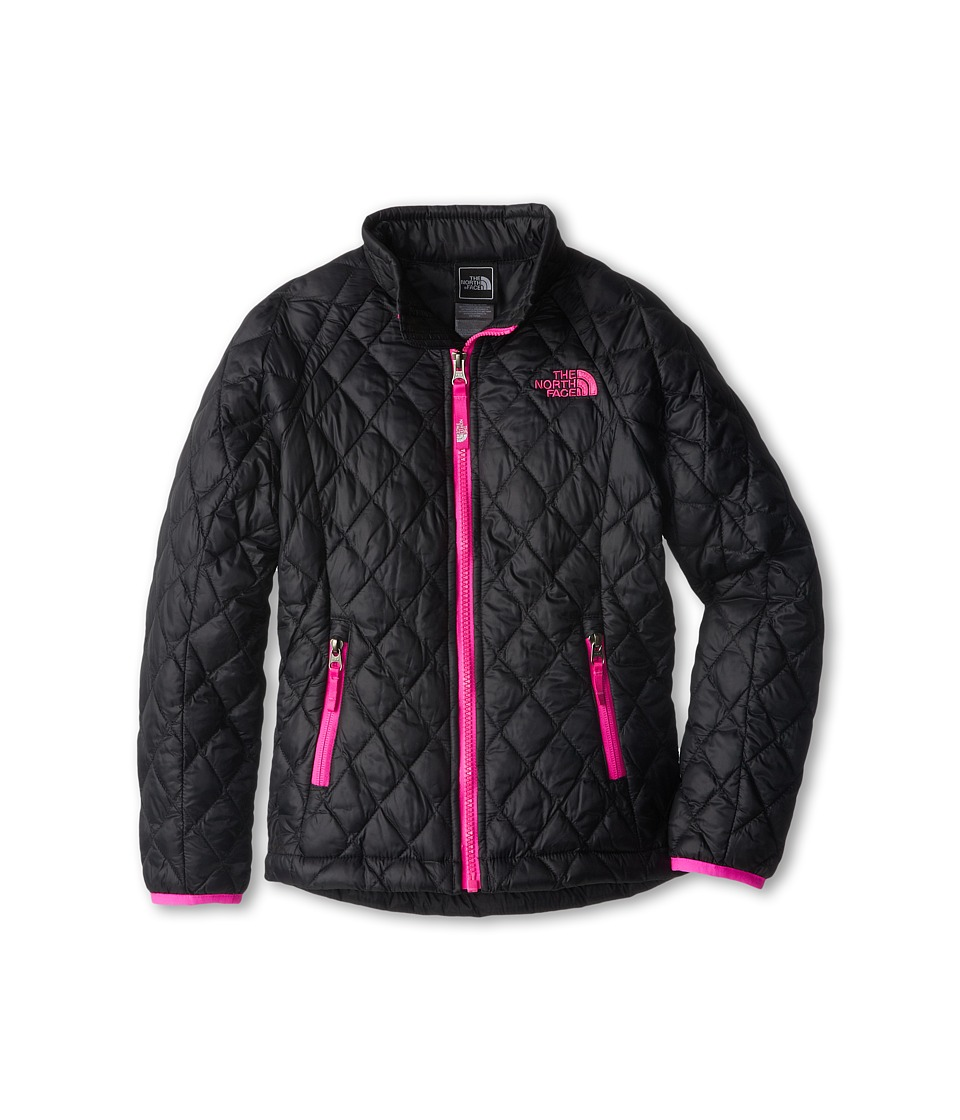 The North Face Kids - ThermoBall Full Zip Jacket (Little Kids/Big Kids) (TNF Black/Azalea Pink) Girl's Coat