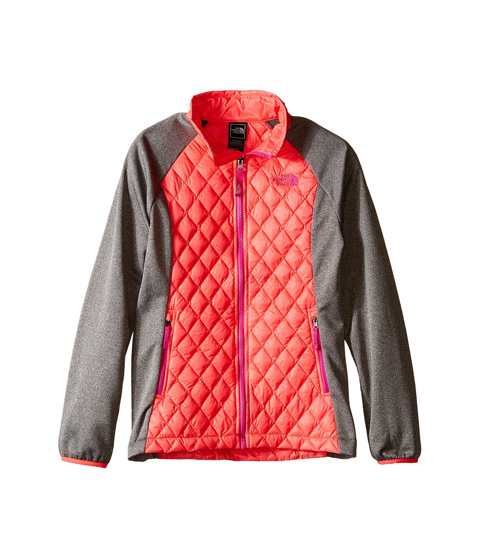 The North Face Kids - ThermoBall Hybrid (Little Kids/Big Kids) (Rocket Red/Heather Grey) Girl's Coat
