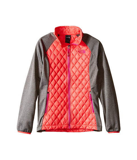 The North Face Kids - ThermoBall Hybrid (Little Kids/Big Kids) (Rocket Red/Heather Grey) Girl