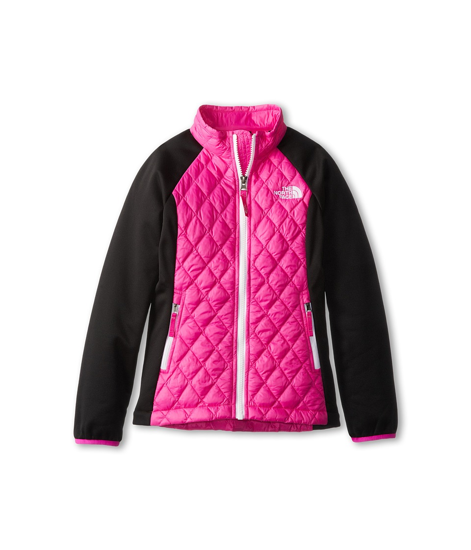 The North Face Kids - ThermoBall Hybrid (Little Kids/Big Kids) (Azalea Pink/TNF Black) Girl's Coat