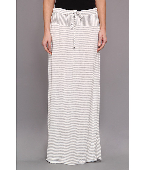 TWO by Vince Camuto - Parallel Lines Drawstring Maxi Skirt (Grey Heather) Women's Skirt