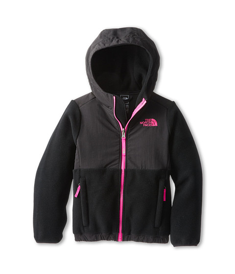 The North Face Kids - Denali Hoodie (Little Kids/Big Kids) (Recycled TNF Black/Azalea Pink) Girl's Sweatshirt