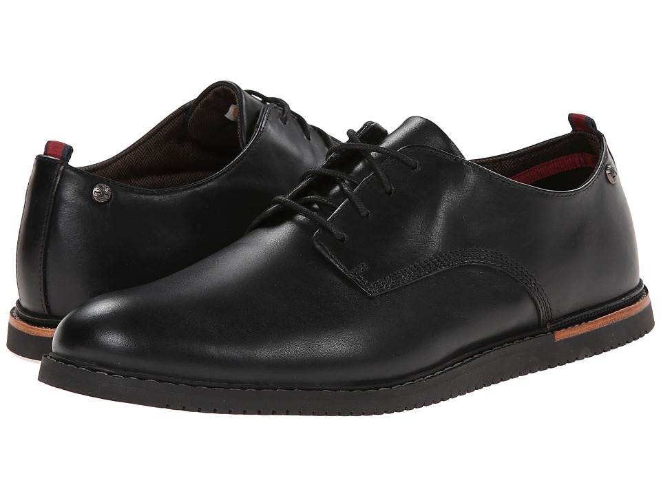 Timberland - Earthkeepers Brook Park Oxford Wedge (Black Smooth) Men's Lace up casual Shoes