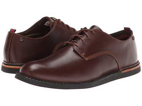 Timberland - Earthkeepers Brook Park Oxford Wedge (Red/Brown Smooth) Men