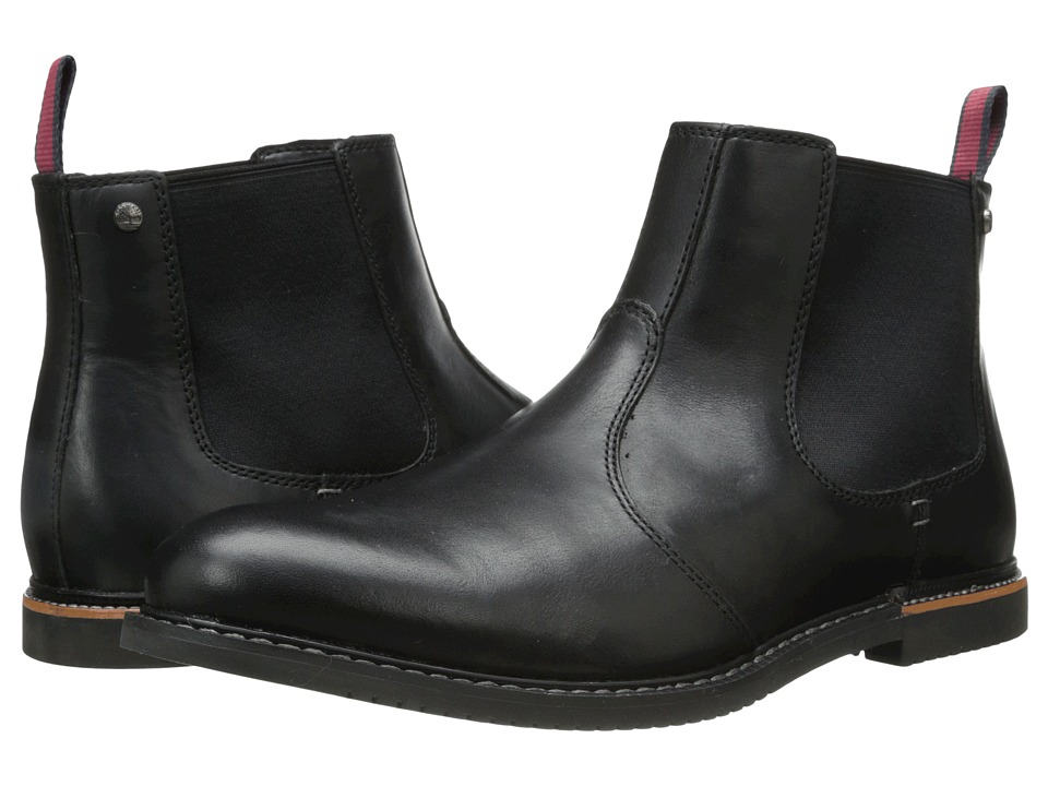 Timberland - Earthkeepers Brook Park Chelsea (Black Smooth) Men's Dress Pull-on Boots