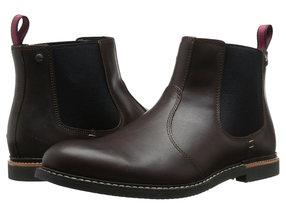 Timberland - Earthkeepers Brook Park Chelsea (Brown Smooth) Men's Dress Pull-on Boots