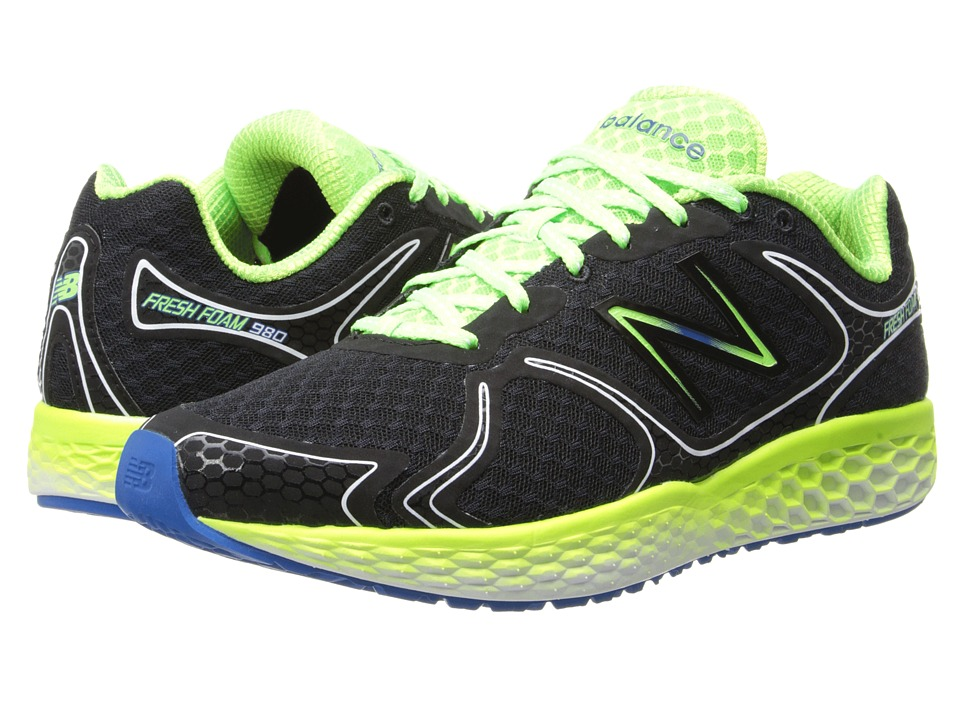 New Balance - Fresh Foam 980 (Black/Green) Men's Shoes
