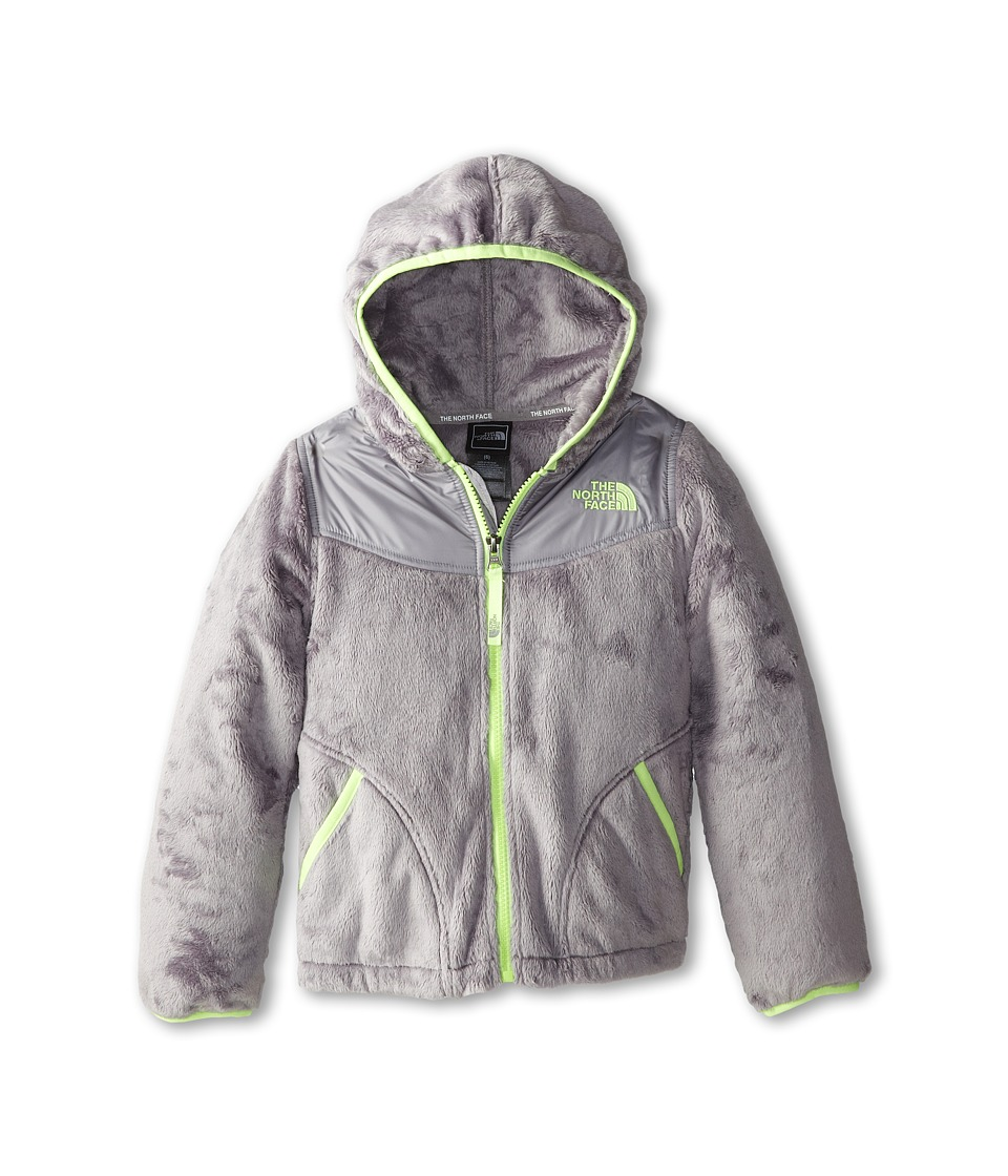 The North Face Kids - Oso Hoodie (Little Kids/Big Kids) (Metallic Silver/Rave Green) Girl's Sweatshirt